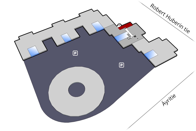 Vapaat toimitilat   Plaza businesspark   100 m2, 4. krs