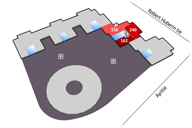 Vapaat toimitilat Vantaa Plaza Business Park Tuike Äyritie 22 768 m2 5. krs