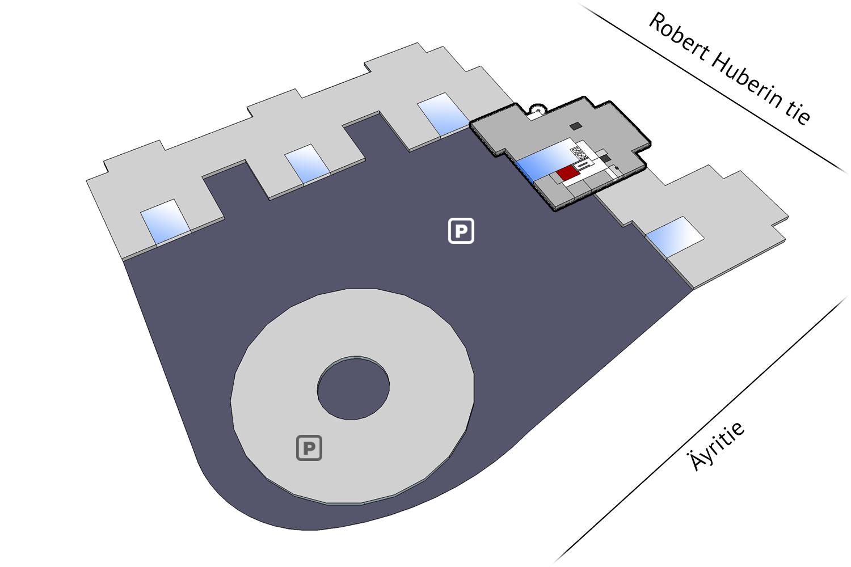 Vapaat toimitilat Vantaa Plaza Business Park Tuike Äyritie 22 19 m2 2. krs