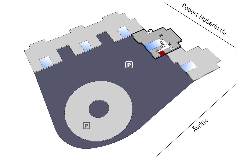 Vapaat toimitilat Vantaa Plaza Business Park Tuike Äyritie 22 21 m2 2. krs